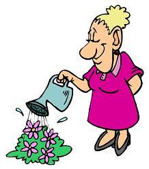 Mum watering